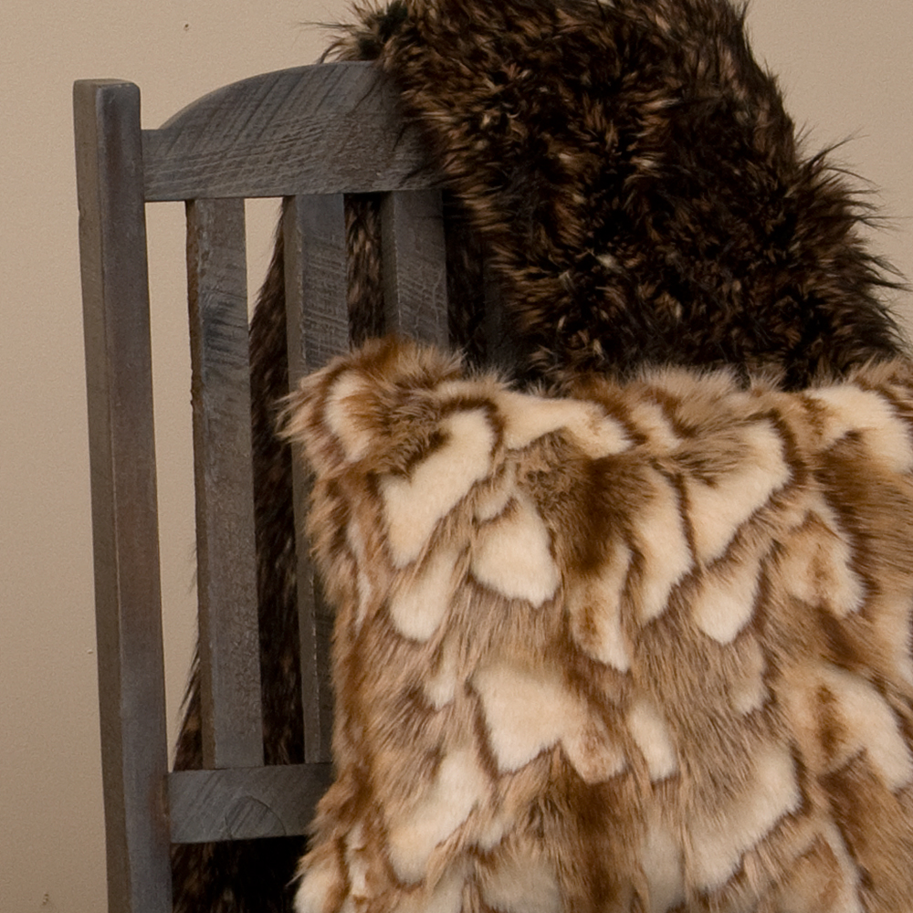 Faux Fur Throws & Pillows -
