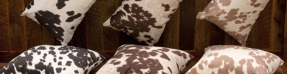Faux Hair on Hide Throws & Pillows