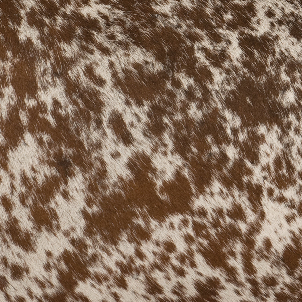 Speckled Dark Brown Hair on Hide Leather