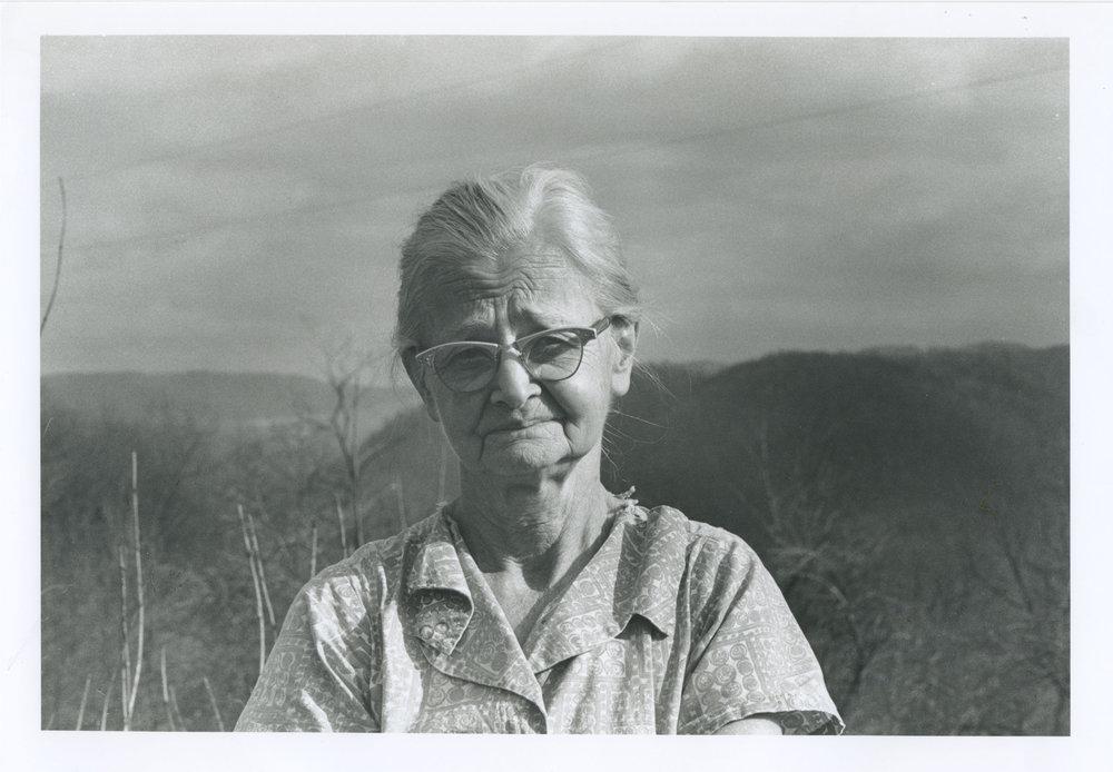 Jessie Davis, one of the community correspondents for  The Preston County News. Jessie lived on Sinclair Ridge.