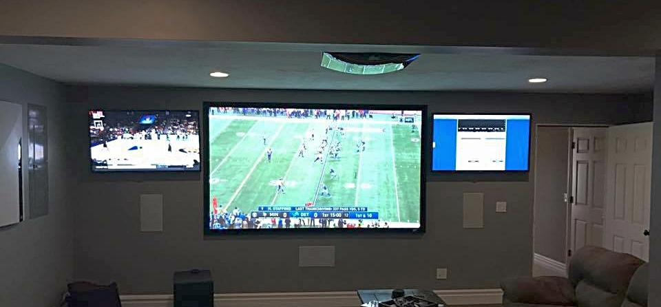 Multi Display Man Cave by 3D Smart Homes