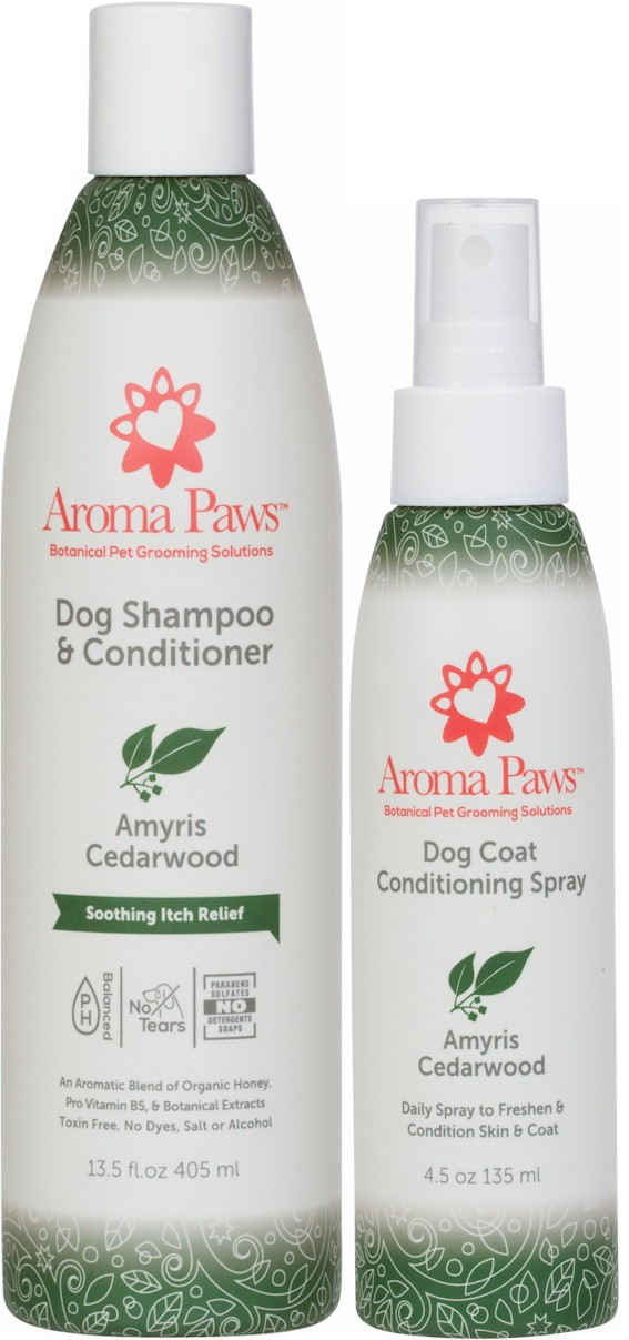 Amyris and Cedarwood Shampoo and Spray Kit
