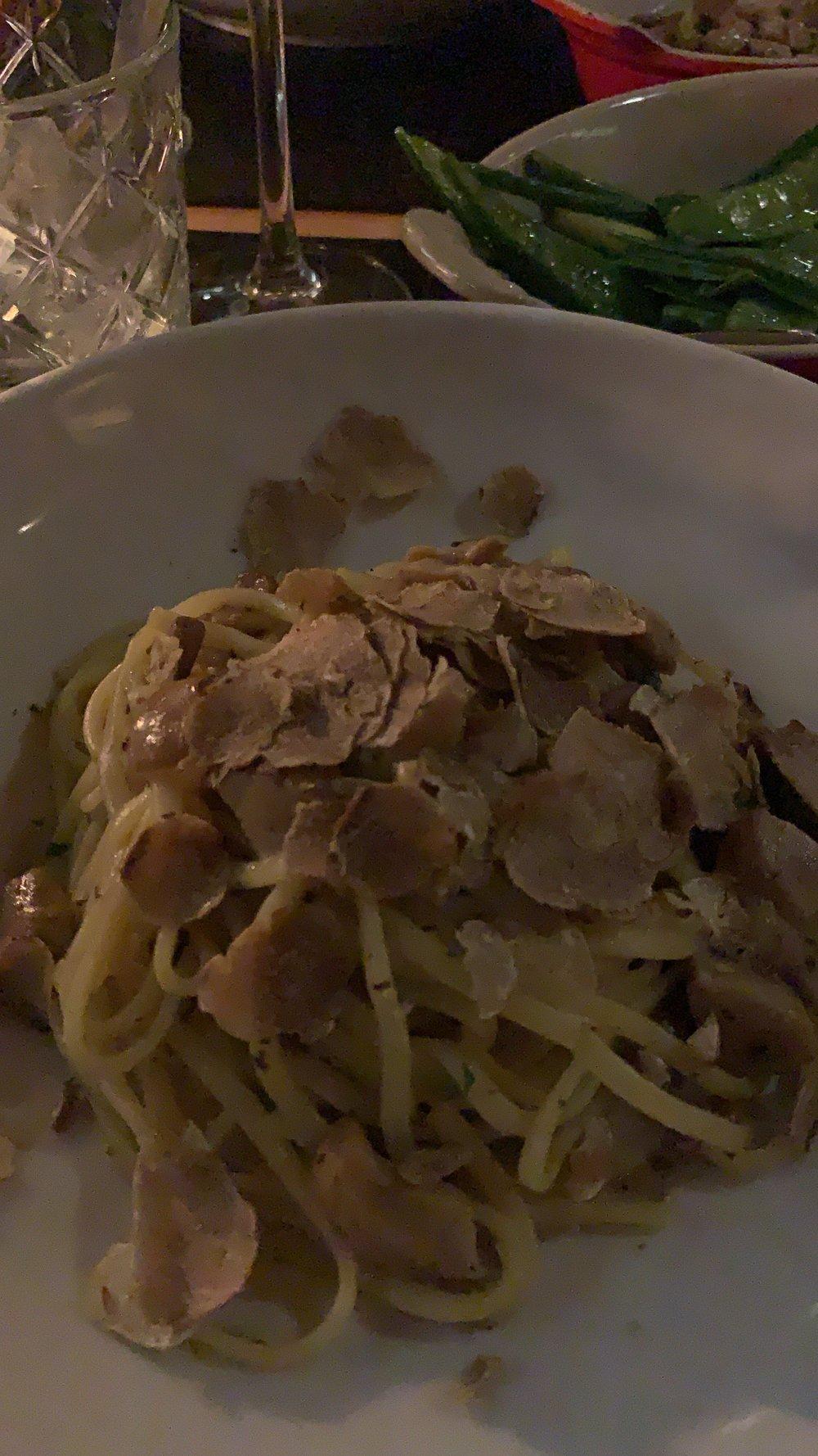 Exquisite truffle pasta at Mama Mia on the Croisette