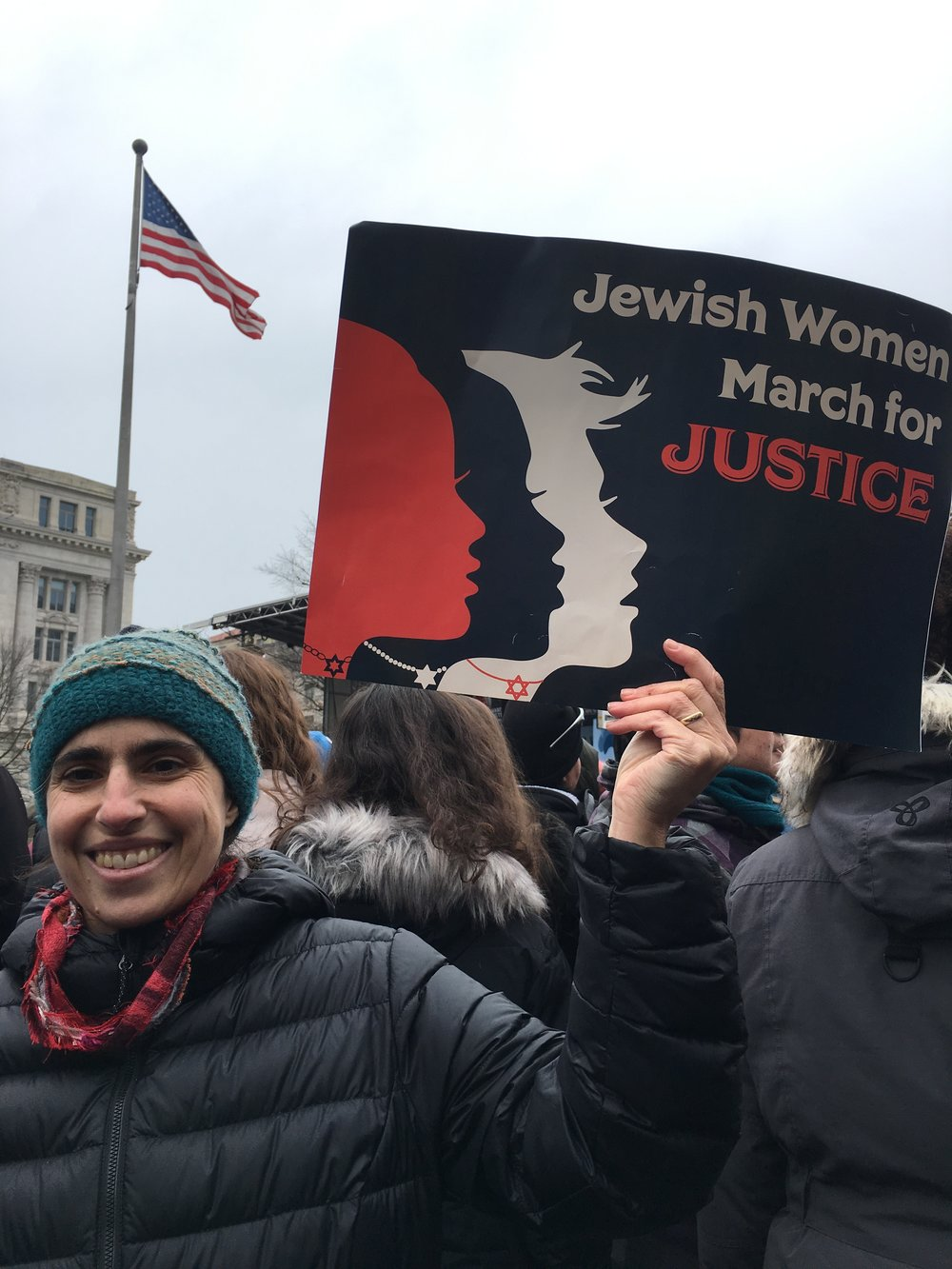 At the 2019 Women's March in Washington, DC