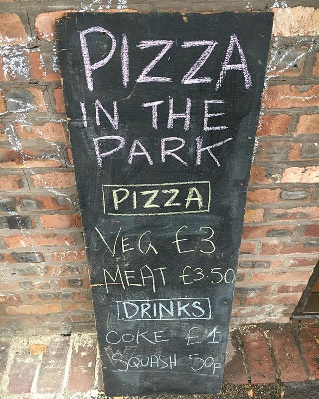 Who's gonna brave the rain for pizza?? 😁 Little bit of rain doesn't bother us Geordies! ☔️ #PizzainthePark #openforbusiness @ 12pm