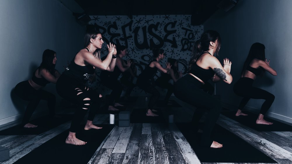Rebel BURN - Expect a traditional Rebel flow with added bursts of cardio. This class will be continuous movement in the 80º's and rest points are up to you.