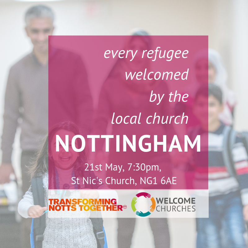 Every refugee welcomed by the local church: NOTTINGHAM