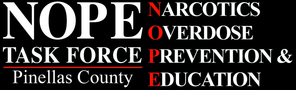 NOPE Pinellas Task Force (Narcotics Overdose Prevention & Education) is a 501 (c)(3) non-profit organization that was formed in Pinellas County, Florida in 2010