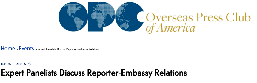 Reporter-Embassy Relations -