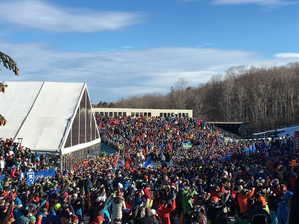 Some 17,000 fans flocked to Killington for Day One of the FIS World Cup, 2017.