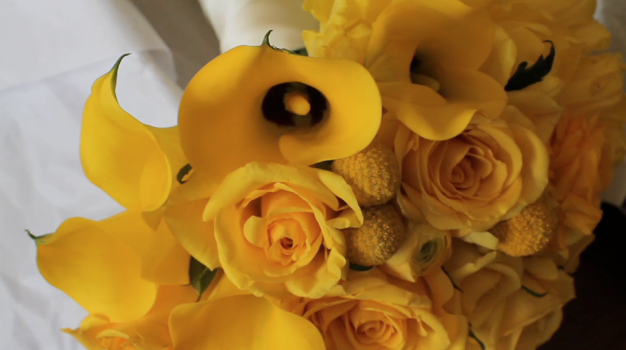 Clink Events Austin Bastrop Hyatt Regency Lost Pines Resort Wedding Pic 03 yellow flower bouquet