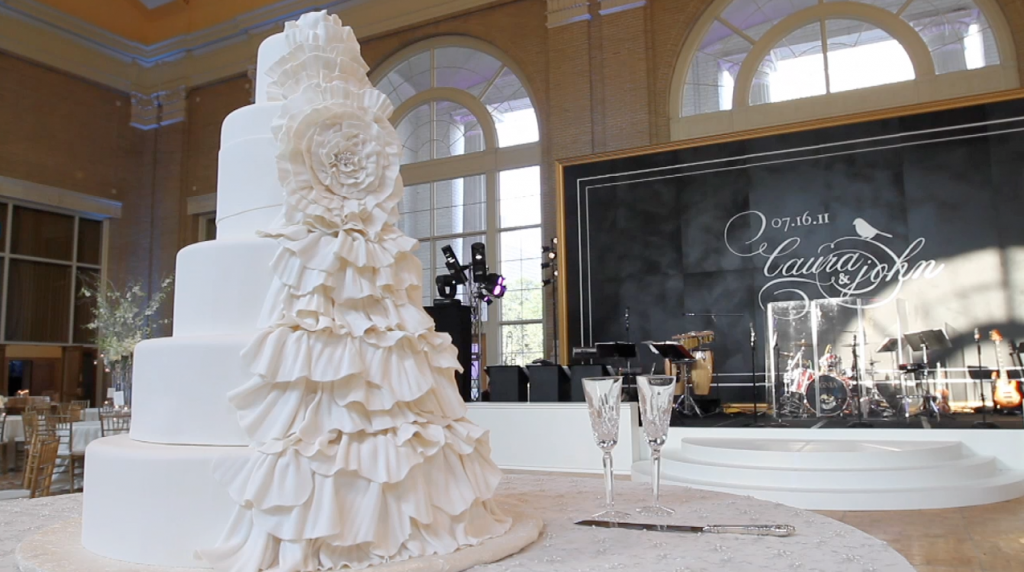 dfw events dallas union station wedding pic 17 ruffle cake