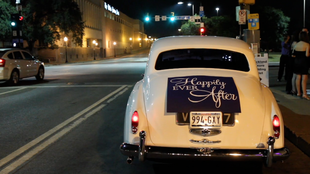 dfw events dallas union station wedding pic 27 car sign