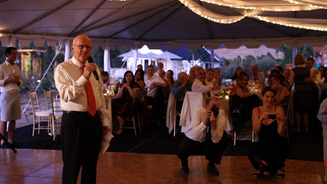 Father of Groom toast screen grab from sonoma wedding video
