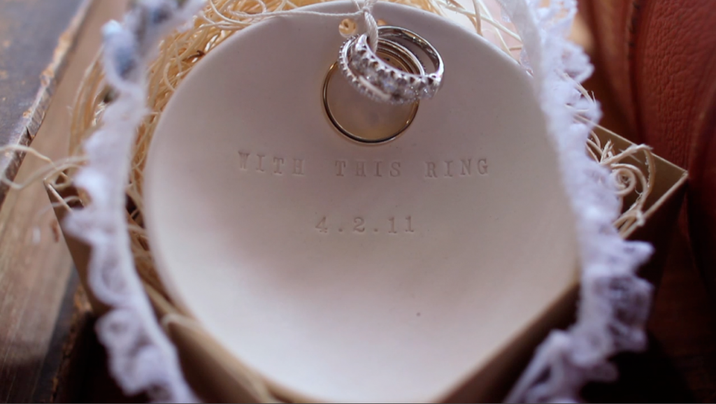 san antonio alamo heights wedding video pic 01 ring pillow