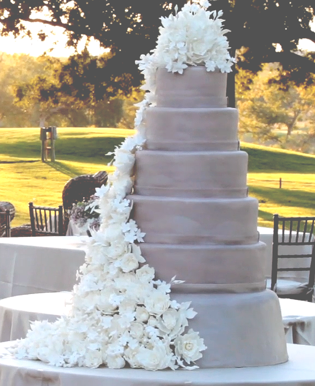 b Escondido Clink Events Austin Wedding Video Pic 08 wedding cake white lavender
