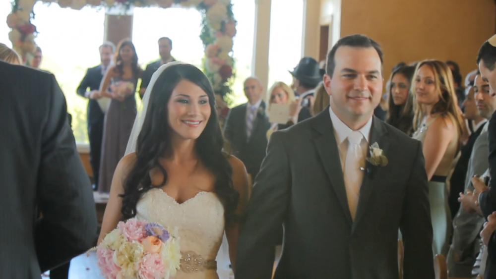 rough creek lodge jewish wedding video pic 42 bride groom