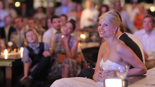 Bride Smile at toast
