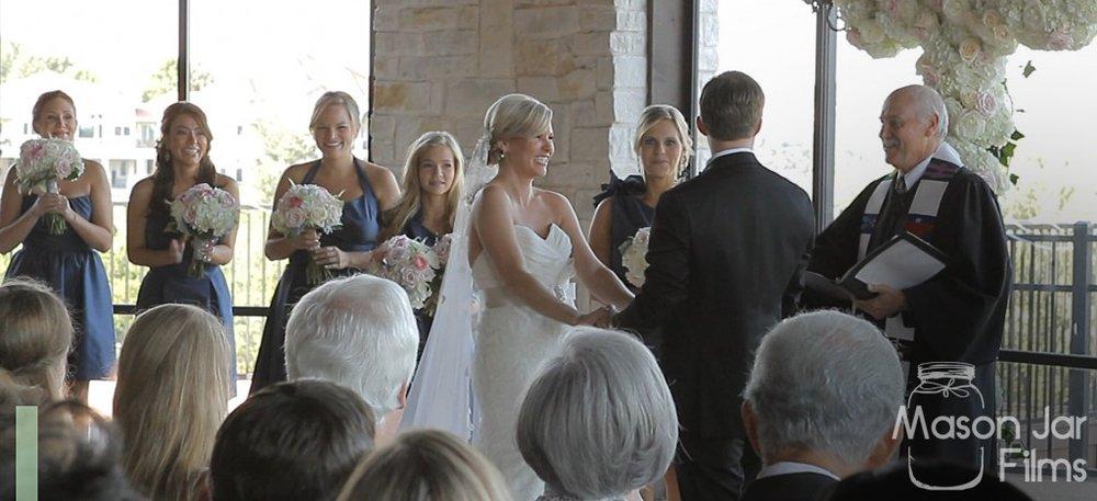Barton Creek Lizze Belle Austin Wedding Pic 07 ceremony smile