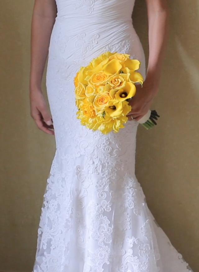 Clink Events Austin Bastrop Hyatt Regency Lost Pines Resort Wedding Pic 15 yellow bouquet