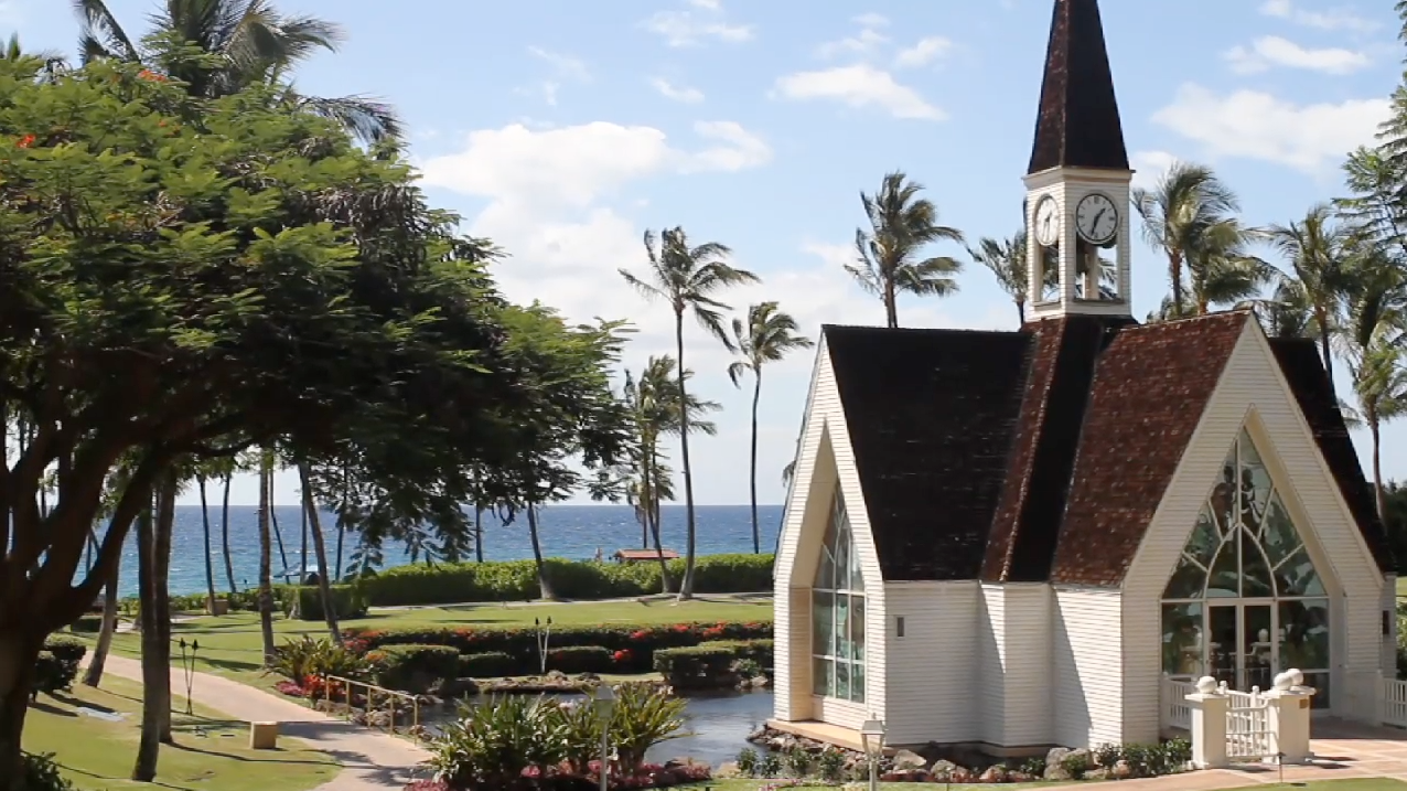 Maui Hawaii Grand Wailea Destination Wedding Pic 06 oceanside chapel