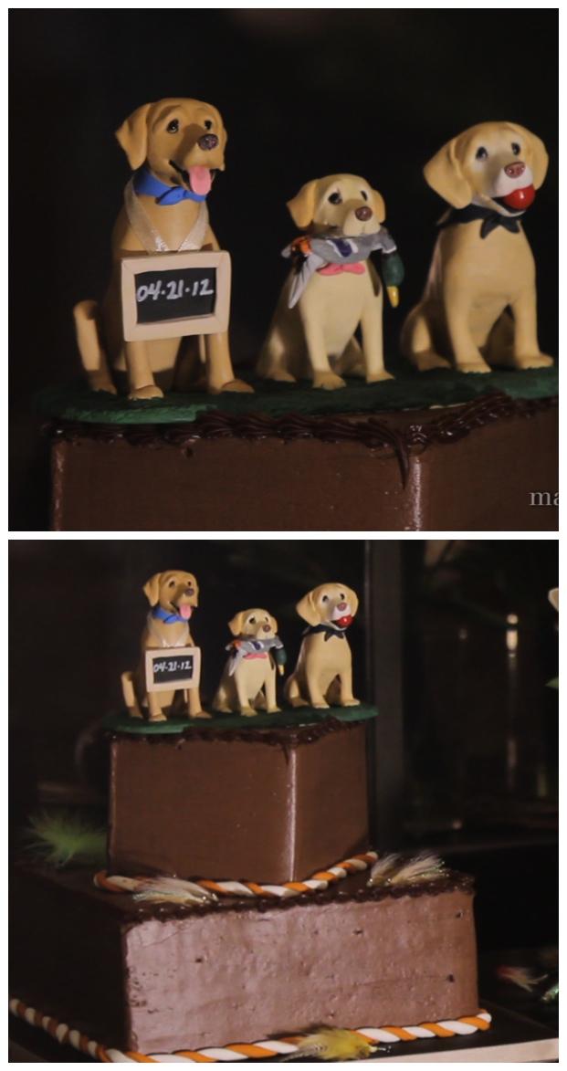 Hunting Dog Groom Cake