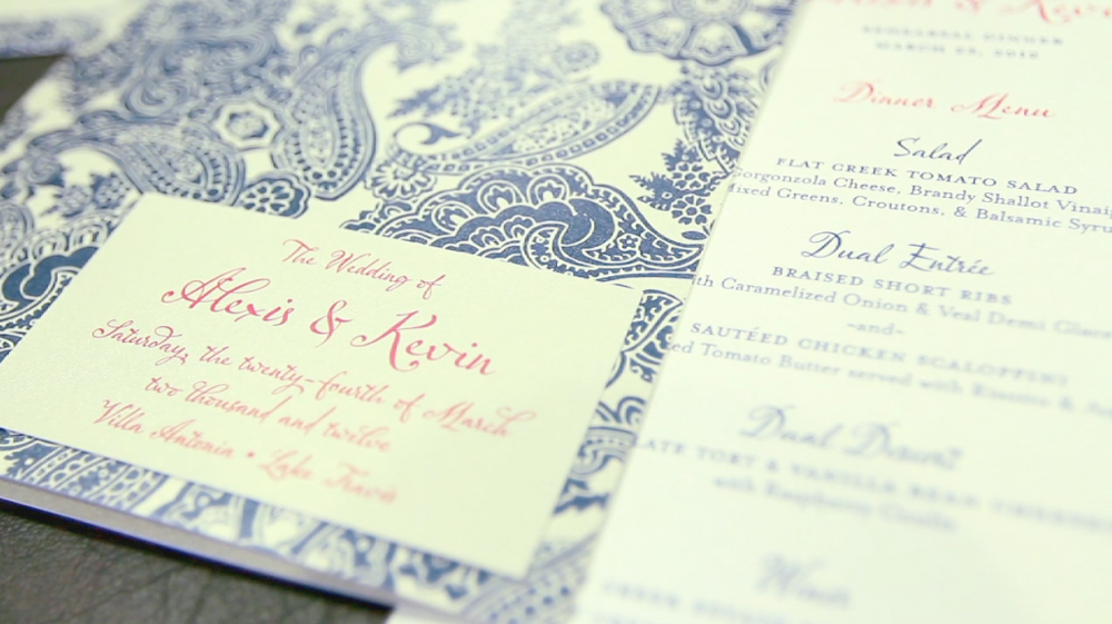 villa antonia austin wedding video pic 10 wedding invitation pink paisely & navy