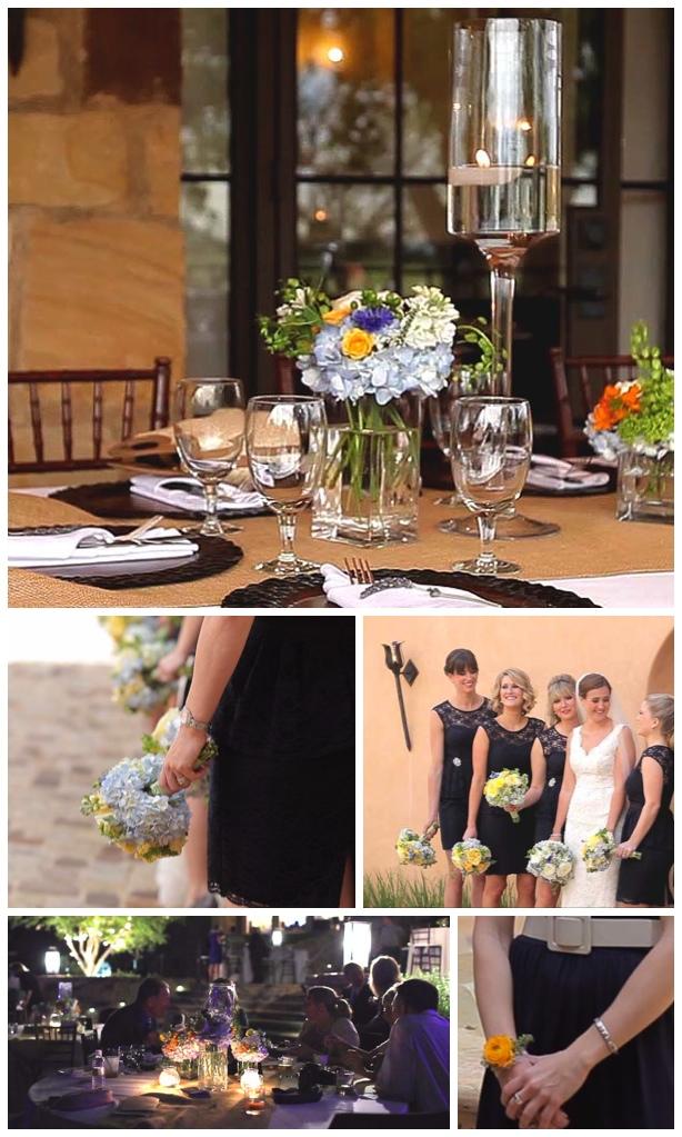 petal pushers wedding flower video pic yellow orange blue