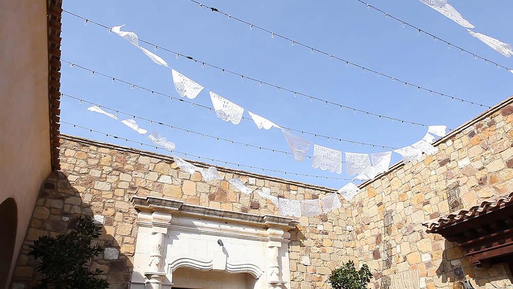 Escondido Papel Picado Paper Lace Wedding by Brock and Co 11