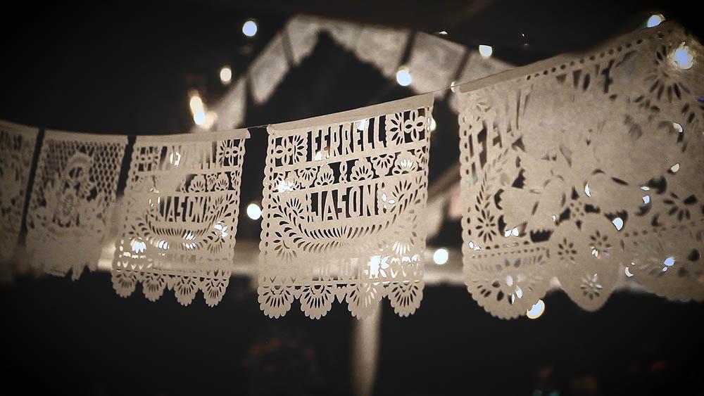 Escondido Papel Picado Paper Lace Wedding by Brock and Co 18