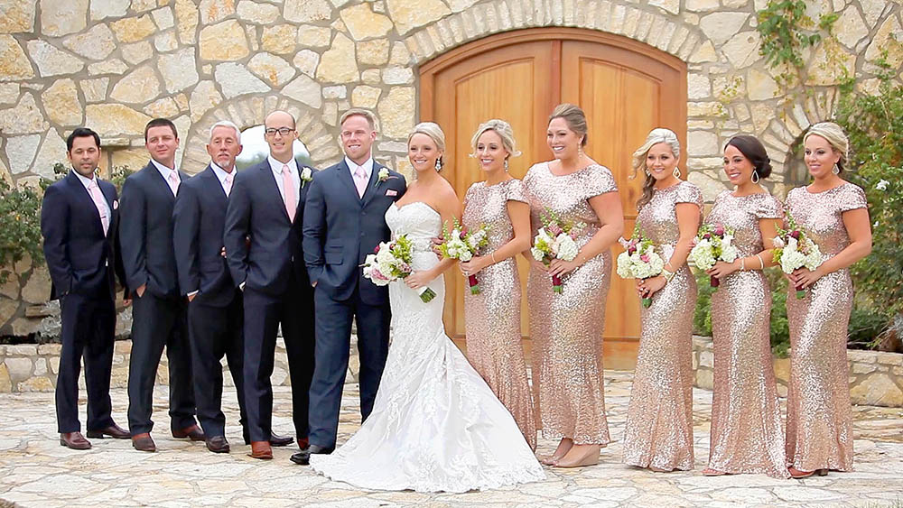 rancho mirando rustic austin hillcountry wedding 10 rose gold sequin bridesmaid dress