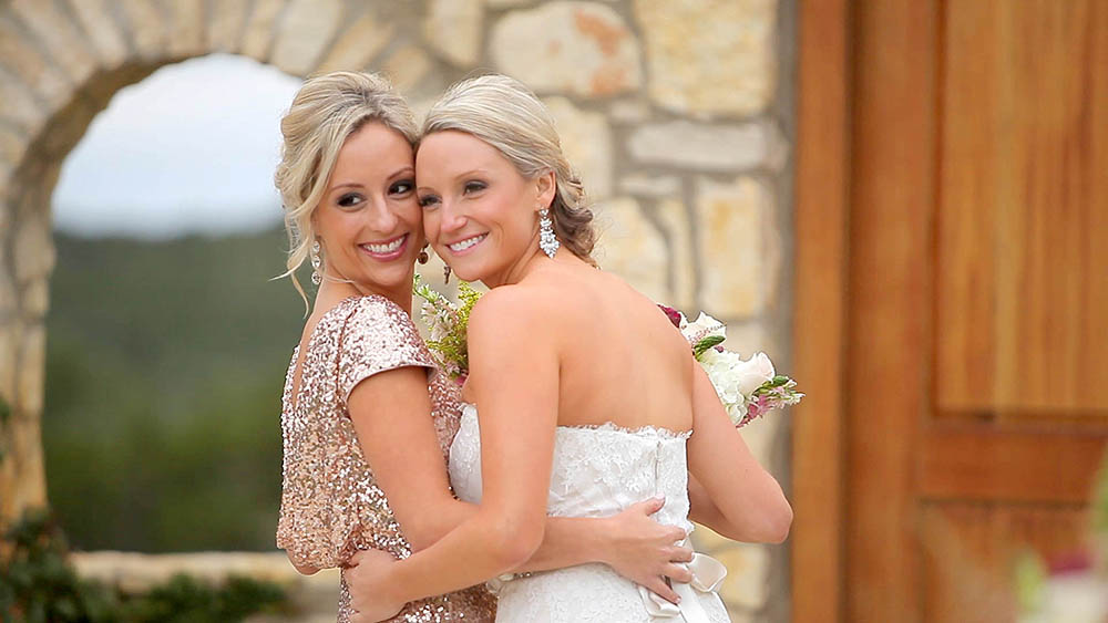 rancho mirando rustic austin hillcountry wedding 11 rose gold sequin bridesmaid dress