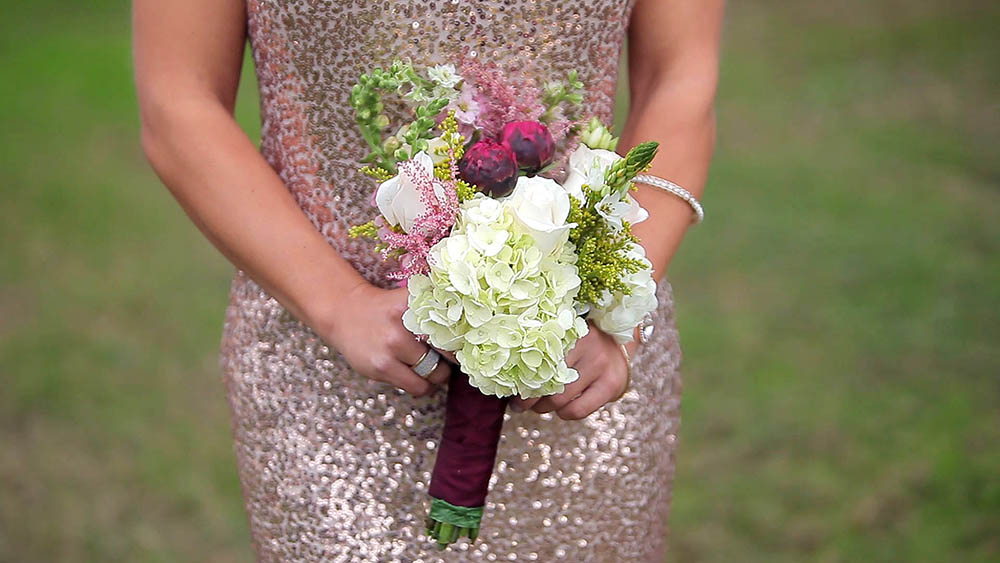 rancho mirando rustic austin hillcountry wedding 12 rose gold sequin bridesmaid dress
