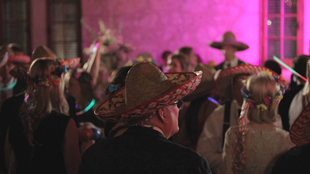 sombreros late night party favors at wedding