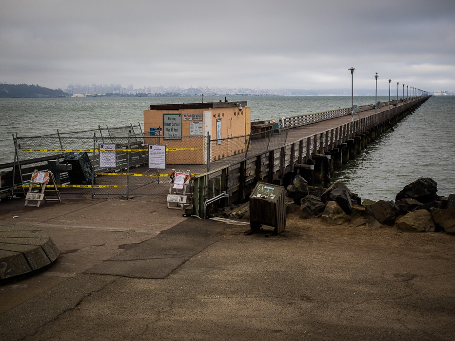 The Berkeley pier has been closed since 2015, depriving people of a favorite spot for recreation and view of the Bay. Photo: Dorothy Brown