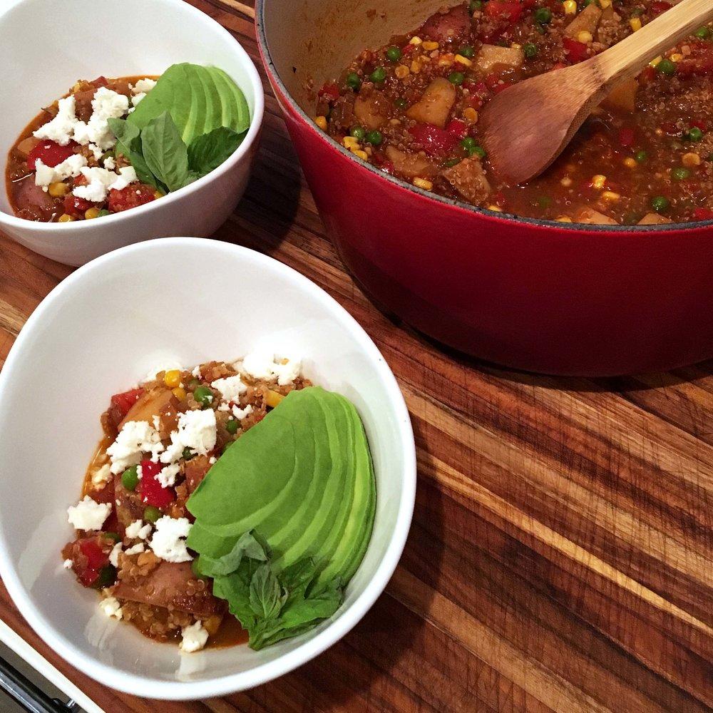 Peruvian Quinoa & Vegetable Stew