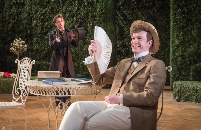 James Backway in The Importance of Being Earnest (Theatre Clwyd)
