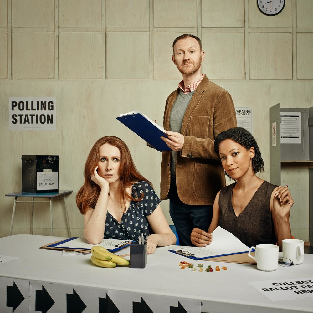 Rita Balogun and Kadiff Kirwan in The Vote (Donmar)