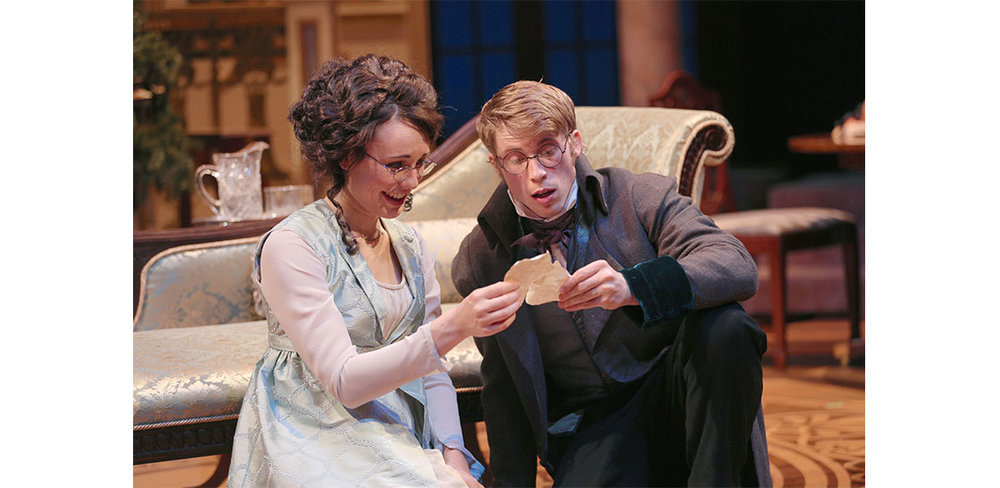 Katie Kleiger and William Vaughan in MISS BENNET: CHRISTMAS AT PEMBERLEY