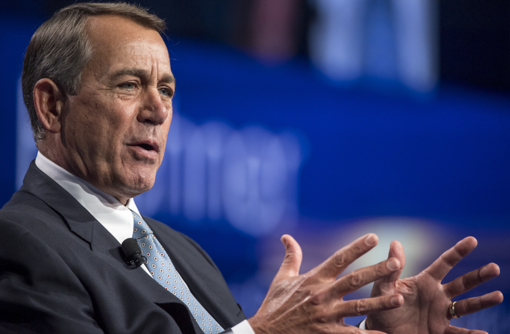 April 11th, 2018 | CNN | By jennifer hansler - former house speaker boehner has