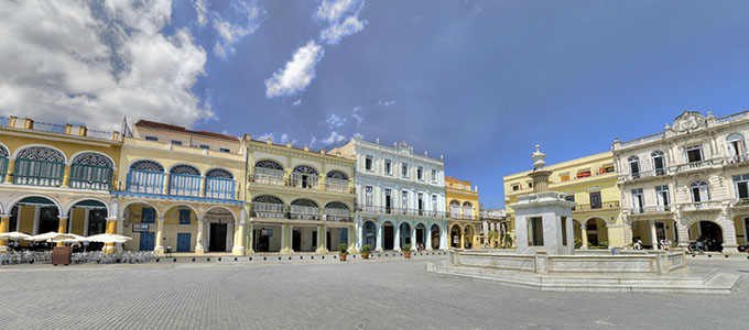 Panorama - Plaza Vieja, Cuba, Havana, March 2012