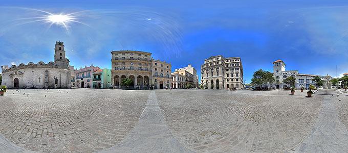 Panorama - Plaza de San Francisco, Cuba, Havana, March 2012