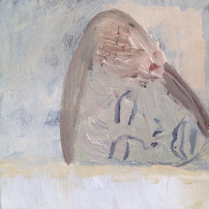 "Lay Down And Rest Before You Get Married   oil on birch panel  8"" x 8""  2015"