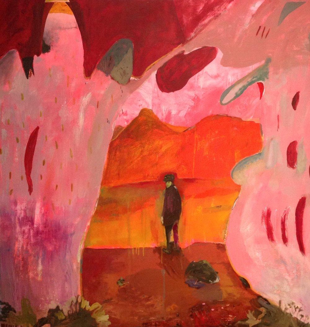 "Joshua Tree Dreamin'   oil and acrylic on canvas  66"" x 63""  2016"