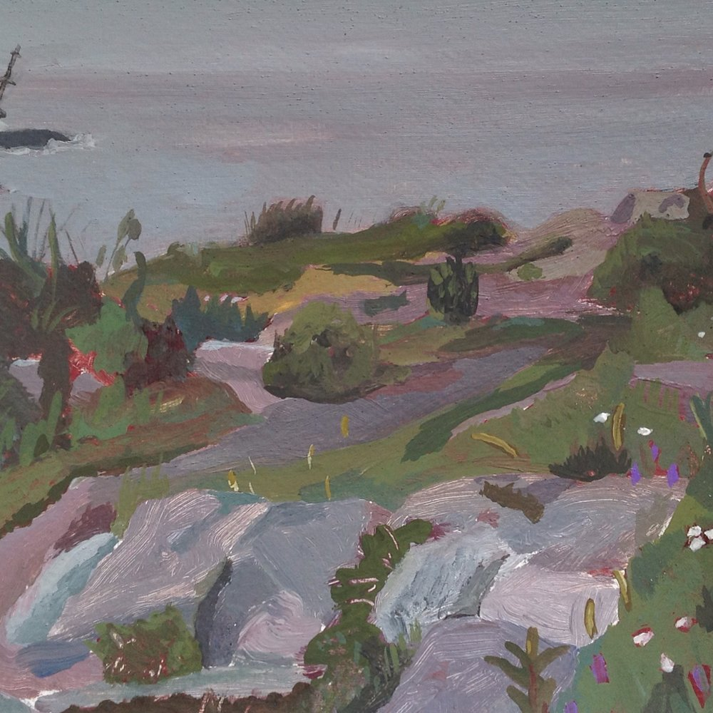 "Cape Elizabeth, Maine   acrylic on paper  8"" x 11""  2015"