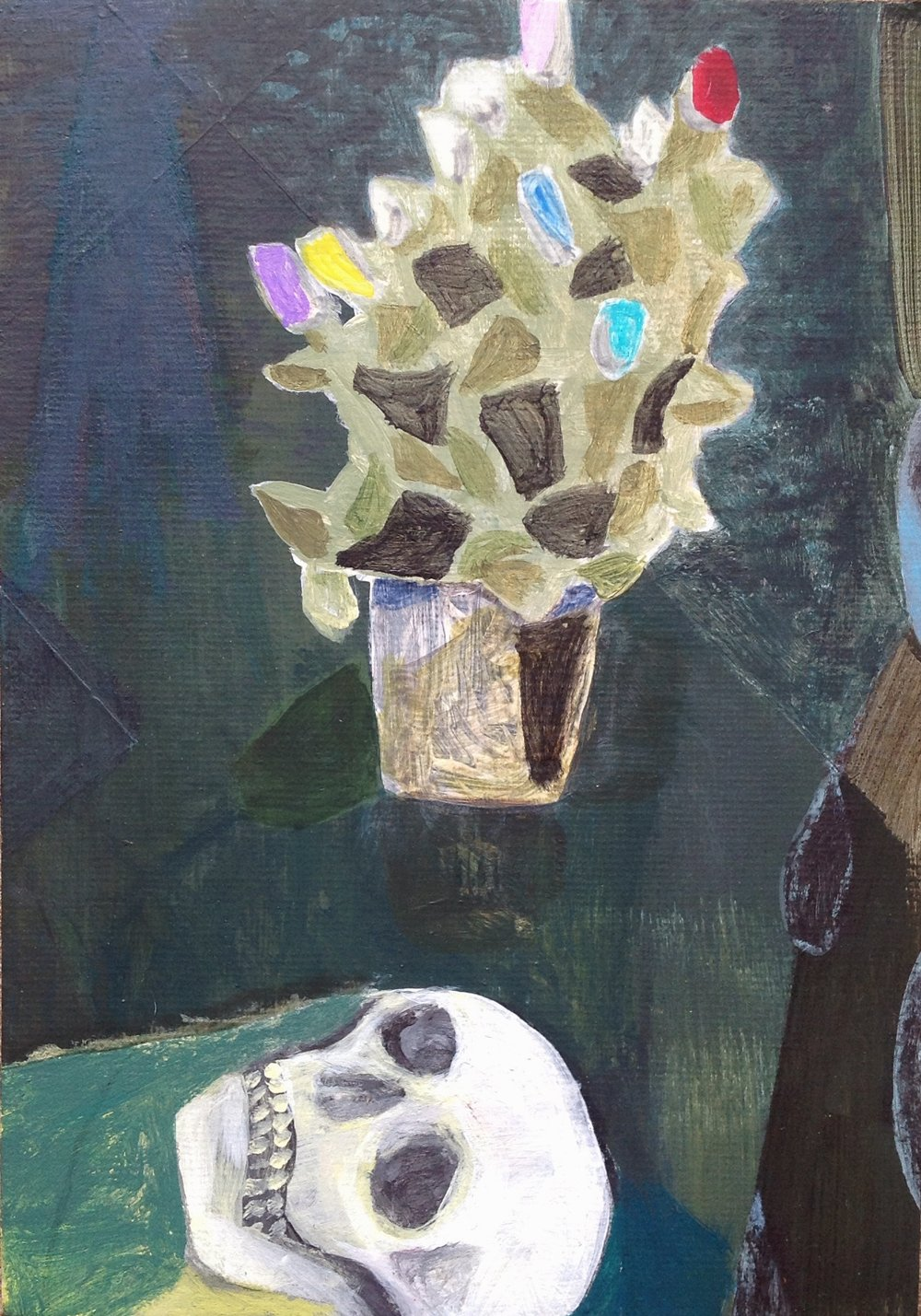 """Death Is Beautiful   acrylic on canvas board  5""""x7""""  2018   Unavailable"""
