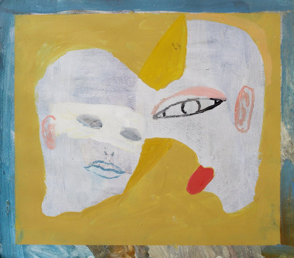 "Revival   acrylic on primed paper  11 1/2"" x 13 1/4""  2016   Unavailable"