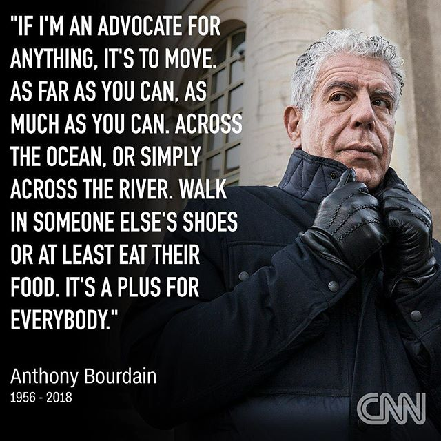 @anthonybourdain will live in our hearts, minds, food, and the splendid conversations that pour from each.