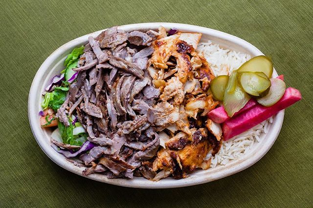 Sometimes it's too hard to choose between chicken or beef. With our new mixed shawarma plate — you don't have to! 😋