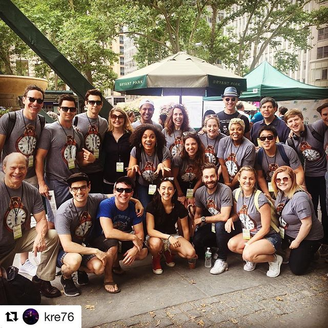 LOVE THESE GUYS!! Pic from before we performed at Broadway in Bryant Park last Thursday. link to the event in bio! #Repost @kre76 (@get_repost) ・・・ One more from Broadway in Bryant Park on Thursday as Punx stuck the landing on three great songs for some tremendous fans. \o/ @groundhogdaybwy